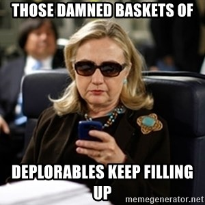 Hillary Text - Those Damned Baskets of deplorables keep filling up