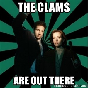 "Typical fans ""The X-files"" - The clams are out there"