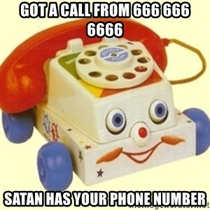 Sinister Phone - Got a call from 666 666 6666 satan has your phone number