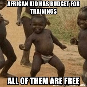 Success African Kid - African kid has budget for trainings all of them are free