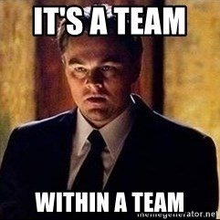 inception - It's a team    WITHIN A TEAM