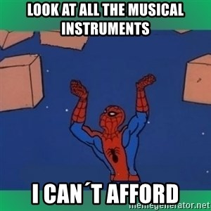 60's spiderman - Look at all the musical instruments I can´t afford