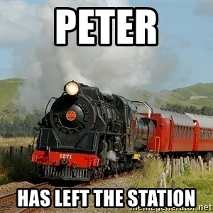 Success Train - Peter has left the station