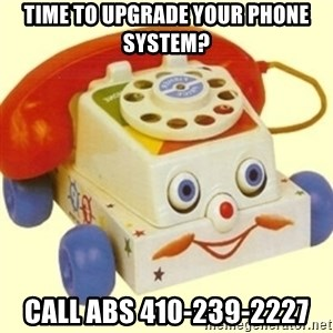 Sinister Phone - Time to upgrade your phone system? Call ABS 410-239-2227