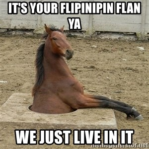 Hole Horse - IT'S YOUR FLIPINIPIN FLAN YA WE JUST LIVE IN IT