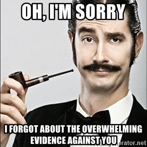 Rich Guy - Oh, I'm sorry  I forgot about the overwhelming evidence against you