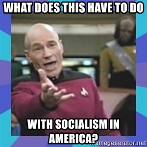 what  the fuck is this shit? - What does this have to do  with socialism in America?