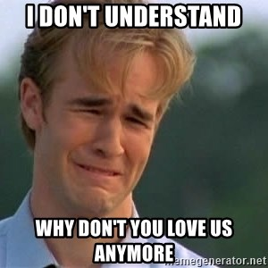 James Van Der Beek - I don't understand Why don't you love us anymore