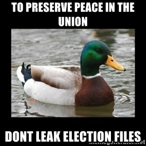 advice mallard - To preserve peace in the union Dont leak election files