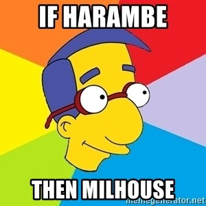 Milhouse - IF HARAMBE THEN MILHOUSE