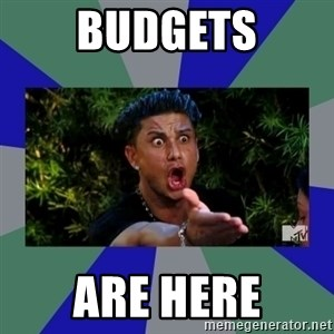 jersey shore - BUDGETS ARE HERE