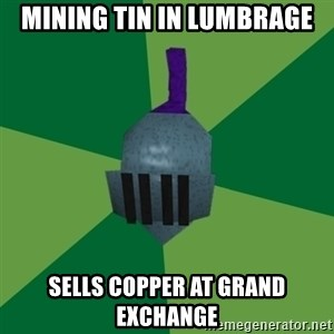 Runescape Advice - Mining Tin In Lumbrage Sells Copper At Grand Exchange