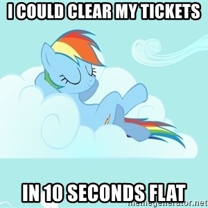 Rainbow Dash Cloud - I could clear my tickets In 10 seconds flat