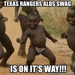Success African Kid - Texas Rangers alds swag  is on it's way!!!
