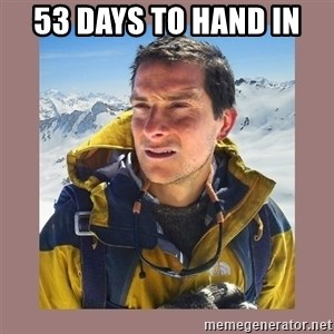Bear Grylls Piss - 53 Days to Hand in