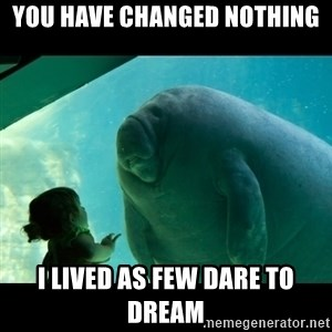 Overlord Manatee - You have changed nothing I lived as few dare to dream