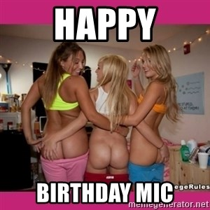 3 Lesbians Showing And Fingering Their Ass - Happy Birthday Mic
