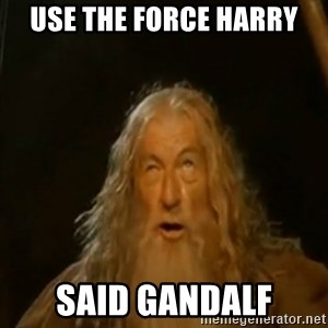 Gandalf You Shall Not Pass - Use the force Harry Said gandalf