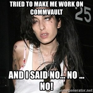 Amy Winehouse - Tried to make me work on Commvault and I said no... no ... no!