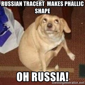 Oh You Dog - Russian Tracert  makes phallic shape Oh Russia!