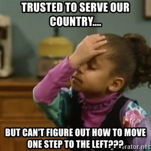 olivia cosby facepalm  - Trusted to serve our country.... But can't figure out how to move one step to the left???
