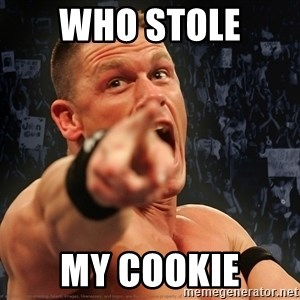 John Cena Smack Down - who stole  my cookie