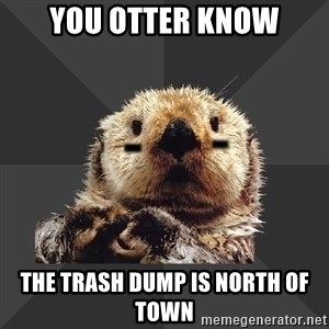 Roller Derby Otter - you otter know the trash dump is north of town
