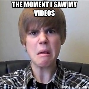 Justin Bieber 213 - The moment I saw my videos