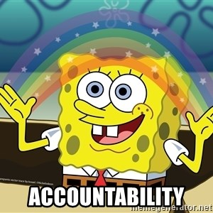 spongebob rainbow -  Accountability