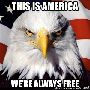 Freedom Eagle  - This is America  We're always free