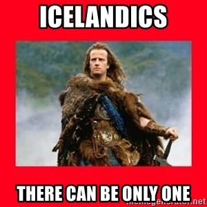 Highlander - ICELANDICS THERE CAN BE ONLY ONE
