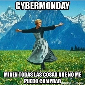 Look at all the things - cybermonday miren todas las cosas que no me puedo comprar