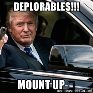 trump car gun - Deplorables!!!  Mount up 😎