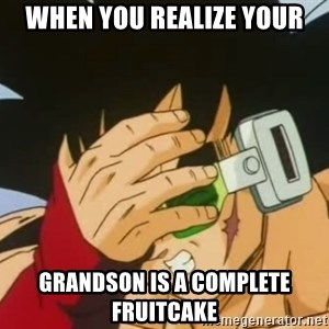 Facepalm Goku - When you realize your grandson is a complete fruitcake