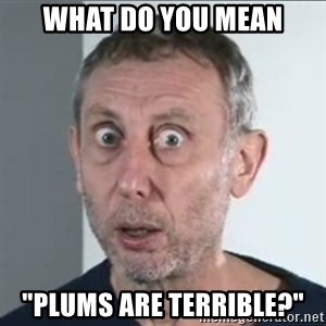 "Michael Rosen stares into your soul - What do you mean ""Plums are terrible?"""
