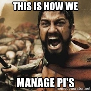 300 - this is how we manage PI's