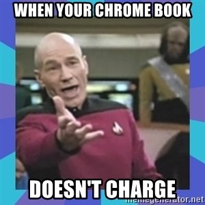 what  the fuck is this shit? - when your chrome book doesn't charge