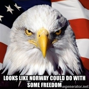 Freedom Eagle  -  Looks like Norway could do with some freedom