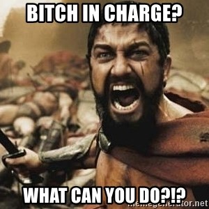 300 - Bitch in charge? What can you do?!?