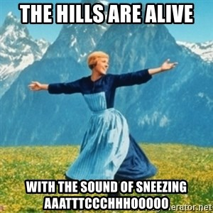 Sound Of Music Lady - The hills are alive with the sound of sneezing AAATTTCCCHHHOOOOO