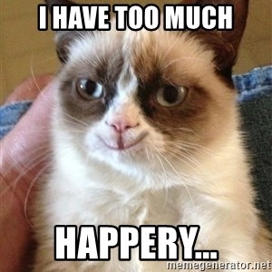 Happy Grumpy Cat 2 - i have too much happery...