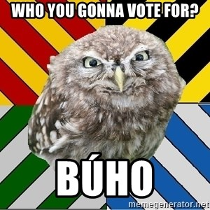JEALOUS POTTEROMAN - Who you gonna vote for? BÚHO