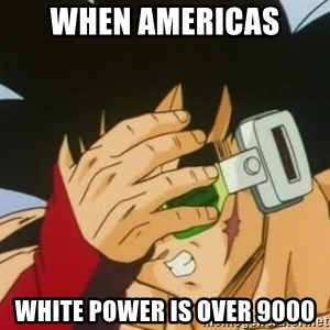 Facepalm Goku - When americas white power is over 9000