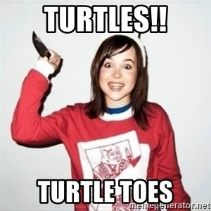 Crazy Girlfriend Ellen - Turtles!! Turtle toes