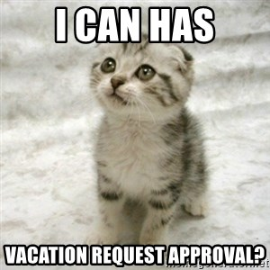 Can haz cat - I CAN HAS VACATION REQUEST APPROVAL?