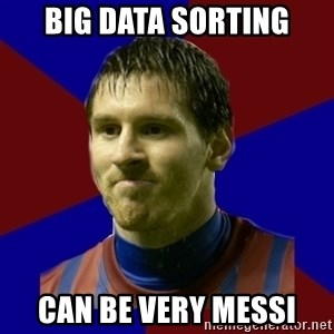 Lionel Messi - BIG DATA SORTING CAN BE VERY MESSI