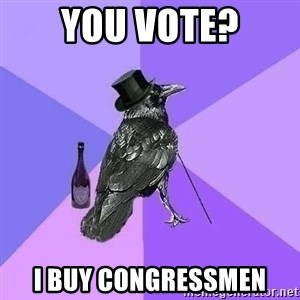 Rich Raven - You vote? I buy congressmen
