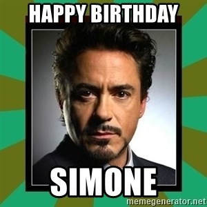 Tony Stark iron - Happy Birthday  Simone