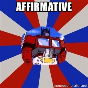 Optimus Prime - Affirmative
