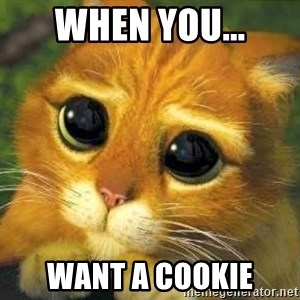 Shrek cat 2 - When You... Want a cookie
